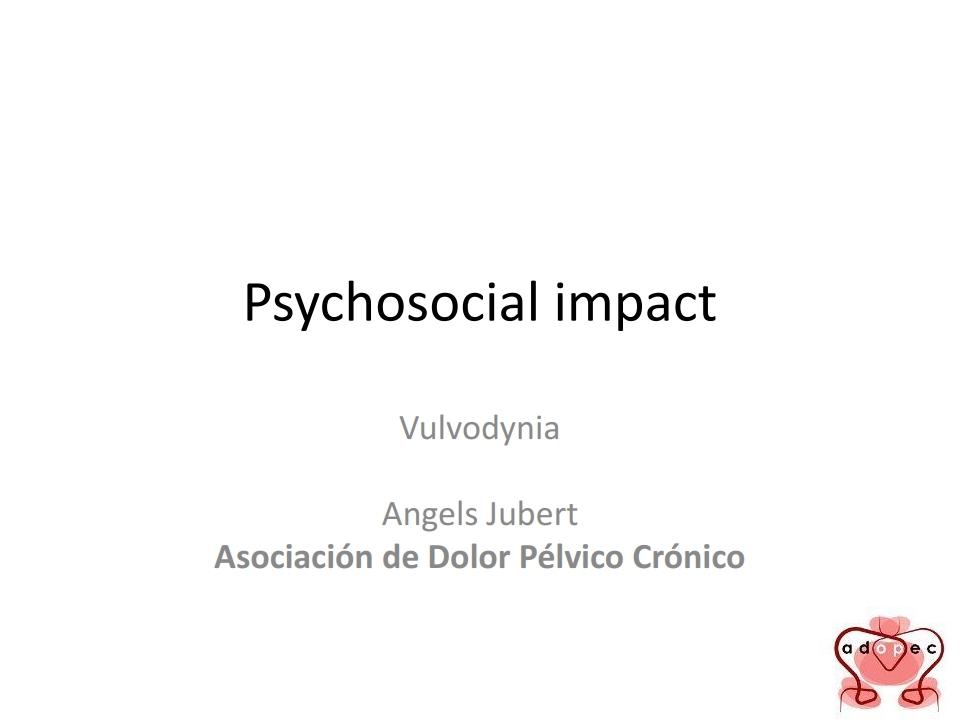 Impacto Psicosocial de la Vulvodinia