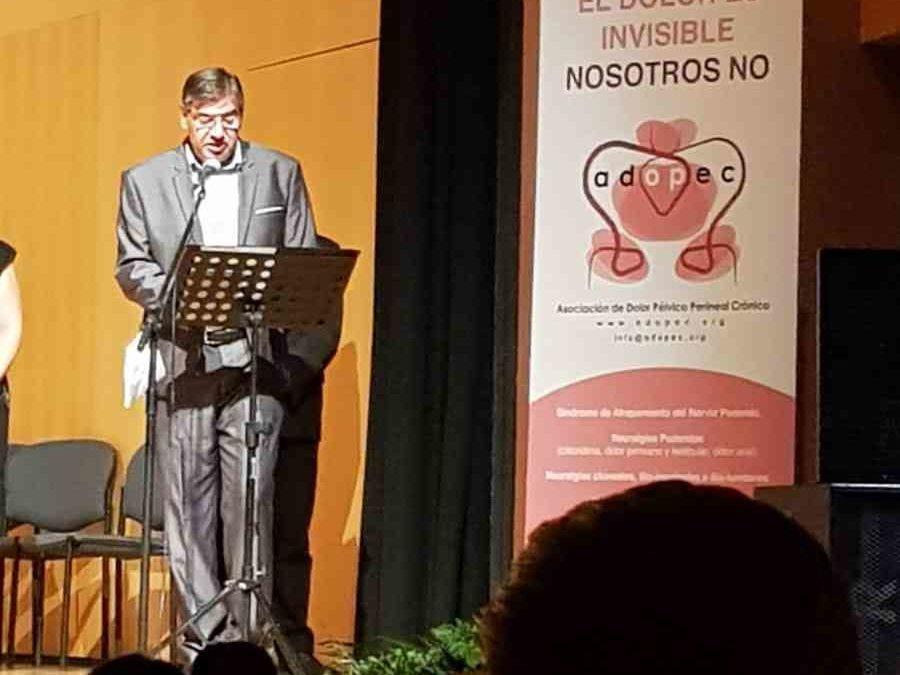 Presentación de Adopec en la Gala a beneficio de la Asociación